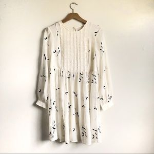 Anthropologie Feather Bone Feuille Tunic dress